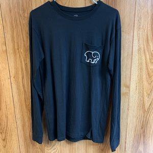 Ivory Ella Mens Black Long-Sleeve T-Shirt
